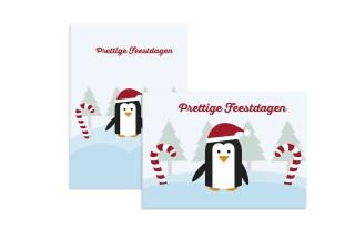 Kerstkaarten Enkel A5 Staand/Liggend