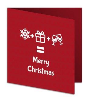 Kerstkaart vierkant 14x14