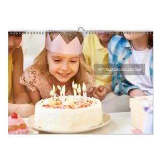 verjaardagskalender 3 liggend maken